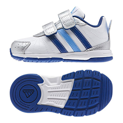 アディダス (adidas) ベビー スナイス 3 CF I(ランニングホワイト×カレッジロイヤル×ラッキーブルー) B40137 [分類:ベビー服 ベビーシューズ]の画像