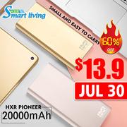 🌟JUL 30 13.9🌟HXR Pioneer🌟20000mAh🌟Big Capacity Powerbank 2.1A Fast Charging/LCD digital display/metallic body casing/polymer battery
