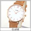 ★送料無料 CLUSE クルース CL30021 海外モデル レディース 腕時計 ウォッチ 革バンド レザー クオーツ アナログ 白 ホワイト 茶 ブラウン