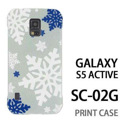 GALAXY S5 Active SC-02G 用『1202 雪の結晶 エメラルド』特殊印刷ケース【 galaxy s5 active SC-02G sc02g SC02G galaxys5 ギャラクシー ギャラクシーs5 アクティブ docomo ケース プリント カバー スマホケース スマホカバー】の画像
