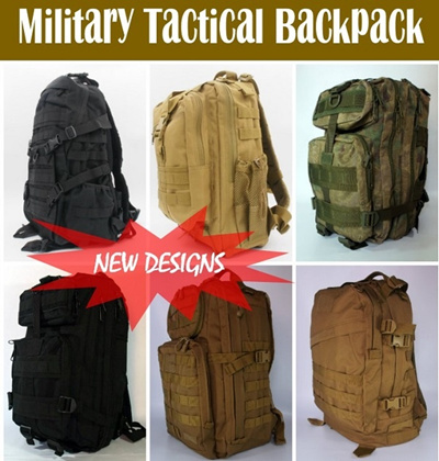 Christmas Gift High Quality Outdoor Army Military Tactical Assault Camping Backpack Rucksack Haversack For