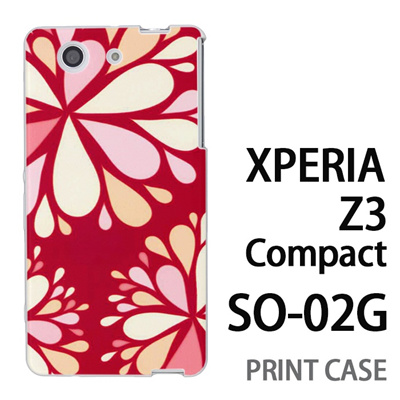 XPERIA Z3 Compact SO-02G 用『0624 赤色花火』特殊印刷ケース【 xperia z3 compact so-02g so02g SO02G xperiaz3 エクスペリア エクスペリアz3 コンパクト docomo ケース プリント カバー スマホケース スマホカバー】の画像