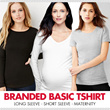 BRANDED Basic Tshirt CLASSIC LONG SLEEVE C-Neck_V Neck Short Sleeve_High Quality_Comfortable Material_Basic Tee/Basic Tshirt_Casual Look_Top_Tank Top_Pakaian Wanita_Busana Wanita