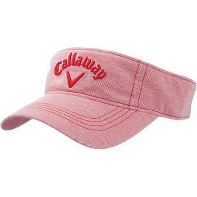 キャロウェイ(Callaway) レディース スタイル バイザー 15 JM RED 【ウィメンズ ゴルフ 帽子 15】の画像
