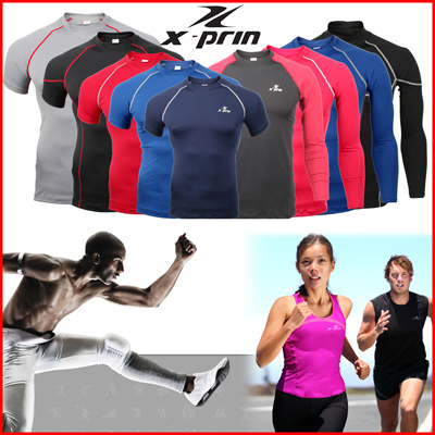 9c78a7f198 Buy XPRIN compression skin wear tight gear base layer running sports wear  Golf inner wear Rash Gurad Fitness football jerseys Cycling Deals for only  S 8.95 ...