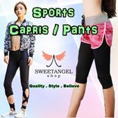 ~SweetangelShop Local Seller/Local Exchange~ Premium Ladies Sports Yoga Zumba Gym Bottom - Running Yoga Shorts / Capris / Pants