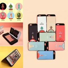 ★送料無料★iPhone7/7plus/6/6s/6splus ケース Fruit friends 《SKINU》カード収納可能・衝撃吸収抜群・傷防止・ミラー付き・スタンド機能・ICカード