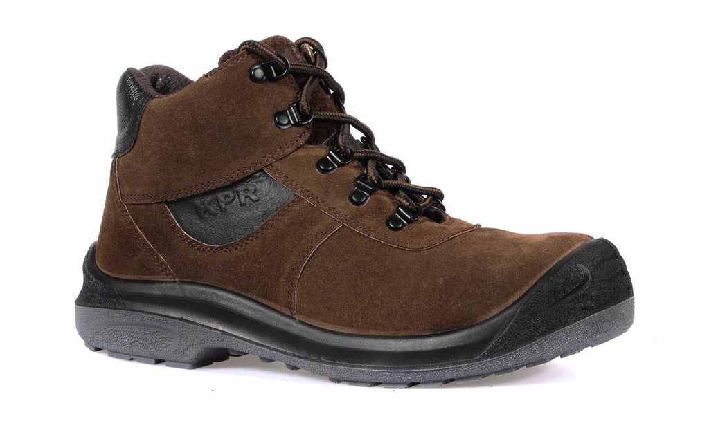 Qoo10 - KPR Safety Boots Brown L-221 (mid Cut Lace Up)  Bags Shoes U0026 Accessories