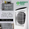Barrett Tech 3 Sided Air Inlet Portable Evaporative Air Cooler with Ionizer