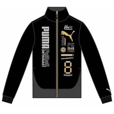 プーマ(PUMA) FD ウラトリコット ジャケット 831176 01 ブラック/ダーク シャドウ 【ジュニア キッズ トレーニングウェア ランニング ブレーカー】の画像