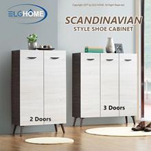 FRENCESCO Contemporary Entryway Shoes Cabinet/2 Doors 3 Doors Scandinavian Shoe Rack/Shoe Organizer