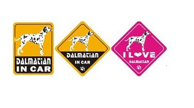 【メール便送料無料】オリジナルステッカー・ダルメシアン・DALMACIAN IN CAR/I LOVE DALMACIAN2011W-ST25【犬用品・ペットグッズ・DOG・犬】【smtb-MS】愛車の画像