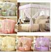 Lace Flower Princess Four Corner Post Bed Canopy Mosquito Netting  Mosquito Curtain Mosquito Net Curtain Screen