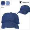 NEWHATTAN ニューハッタン 帽子 キャップ デニムキャップ  メンズ レディース [6/21 新入荷]