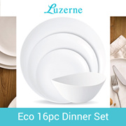 Luzerne 16pc ECO Dinner Set •  Hotel Quality Products for Home Kitchen • Dining Plates Bowls • Table Top Wares • Launch Promo