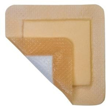 MediPlus Silicone Comfort Foam Dressing 4 x 4 (2.5 x 2.5 Pad), Box of 5, MediPurpose # MP1010SLC
