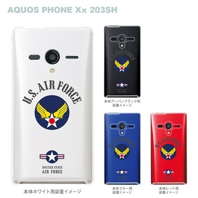 【AQUOS PHONEケース】【203SH】【Soft Bank】【カバー】【スマホケース】【クリアケース】【U.S.AIR FORCE】 203sh-ca-bs038の画像