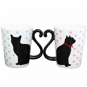 アルタマグカップマグカップル黒猫ドットペアマグカップ
