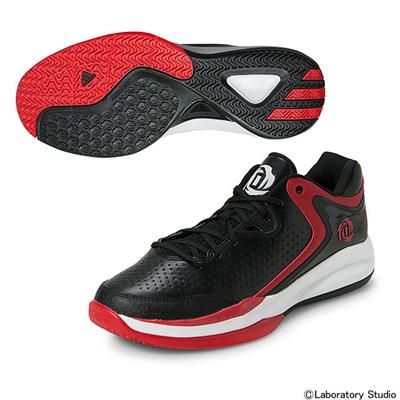 アディダス (adidas) D ROSE ENGLEWOOD III(コアブラック×スカーレット×コアホワイト) D73904 [分類:バスケットボール バスケットシューズ] 送料無料の画像