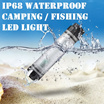 *IP68 Certified Waterproof Rechargeable Power bank 2600mah LED Lamp Torch Camping Picnic Cycling