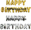 Happy Birthday Foil Letter Balloons Wall Deco