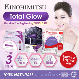SG52 SPECIAL Kinohimitsu Total Glow Bright Fair Skin Set {Prowhite + UV Bright + Be White} All in 1