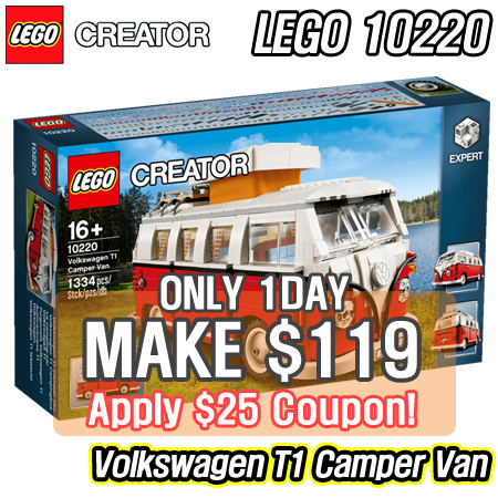 Buy Make 119 For 1day Lego Creator Volkswagen T1 Camper Van