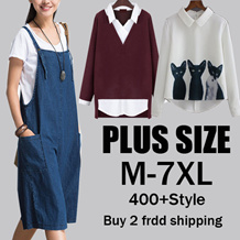 [NEW ARRIVALS] Plus Size Collection /Dress /Blouse/ Skirt/Midi Skirts /T-Shirts Plus Size S to 6XL Over 300 Designs