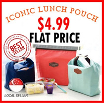 ICONIC Lunch Pouch  - [Cooler Thermal Insulated Picnic Lunch Tote Bag Lunch Box Picnic Bag ] Best Present and gifts for  teachers children Christmas Birthday Corporate Church Door Gift Valentines Day