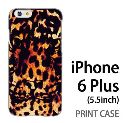 iPhone6 Plus (5.5インチ) 用『No5 豹柄×タイガー』特殊印刷ケース【 iphone6 plus iphone アイフォン アイフォン6 プラス au docomo softbank Apple ケース プリント カバー スマホケース スマホカバー 】の画像