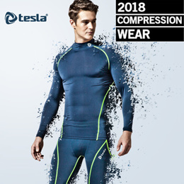 ★2018★ Tesla compression sports wear Underlayer sleeve tshirt long pants short pants