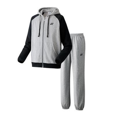 ヨネックス (YONEX) スウェットパーカー&パンツ 上下セット(グレー×グレー) 32005-010-32006-010 [分類:テニス トレーニングジャケット] 送料無料の画像
