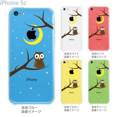 【iPhone5c】【iPhone5c ケース】【iPhone5c カバー】【iPhone ケース】【クリア カバー】【スマホケース】【クリアケース】【イラスト】【クリアーアーツ】【フクロウ】 09-ip5c-th0002の画像