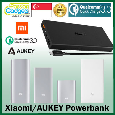?100% Authentic XIAOMI/AUKEY? Mi PowerBank 20000mAh 16000mAh 10000mAh 5000mAh Power Bank Portable Deals for only S$59.8 instead of S$0