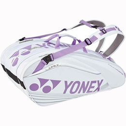 ヨネックス(YONEX) ラケットバッグ9(リュック付き) スノーホワイト BAG1602N 【テニスバッグ 鞄 部活 バックパック】