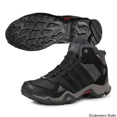アディダス (adidas) AX2 MID GTX(ダークシェール×ブラック×ライトスカーレット) Q34271 [分類:トレッキングシューズ (メンズ)] 送料無料の画像