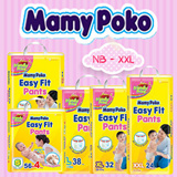 MAMYPOKO EASY FIT PANTS (S56 M44 L38 XL32 XXL24) 4-packs