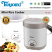 TOYOMI Rice Cooker 0.4L [Model: RC 515] - Official TOYOMI Warranty Set. 1 Year Warranty. Sole Distributor In Singapore. BEST PRICE.