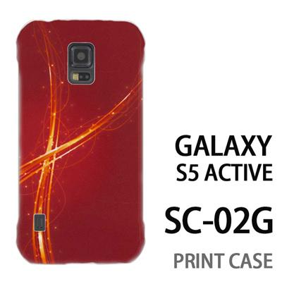 GALAXY S5 Active SC-02G 用『1204 クロスリボン 赤』特殊印刷ケース【 galaxy s5 active SC-02G sc02g SC02G galaxys5 ギャラクシー ギャラクシーs5 アクティブ docomo ケース プリント カバー スマホケース スマホカバー】の画像