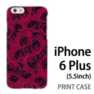 iPhone6 Plus (5.5インチ) 用『0111 一面の薔薇 赤』特殊印刷ケース【 iphone6 plus iphone アイフォン アイフォン6 プラス au docomo softbank Apple ケース プリント カバー スマホケース スマホカバー 】の画像