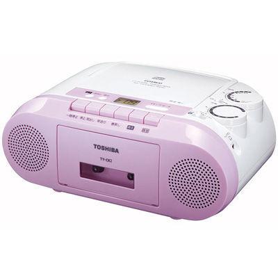 東芝FM補完放送も受信できるFMワイドバンド対応CDラジカセピンクTY-CK2-P