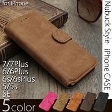 【iPhone7対応】iPhone6s iPhone 6s plusケース iPhone5 iPhone SE ケース 手帳型ケース おしゃれヌバック調 シンプル ピンク ライトブラウン キャメル ブラウン ブラック