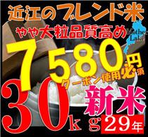 🌟クーポン使えます!新米入り🌟29年品質を高めたブレンド米!30kg !!滋賀県で収穫したお米です。滋賀県は琵琶湖に四方を囲む高い山々、豊かな自然に恵まれており、米作りに最適の環境のお米!