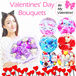 ♥INSTOCK♥ Valentines Day Gift/Happy Birthday Gift/Anniversary Flower Bouquets/Hello Kitty/Mickey Mouse/Pig/DIY hand made