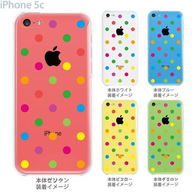 【iPhone5c】【iPhone5cケース】【iPhone5cカバー】【クリア カバー】【スマホケース】【クリアケース】【イラスト】【チェック・ボーダー・ドット】【カラードット】 22-ip5c-ca0006の画像