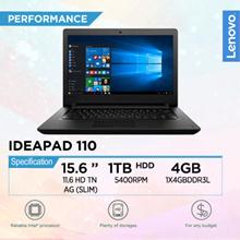 [Brand New] Lenovo ideapad 110 (BLACK) 15.6 HD  Laptop