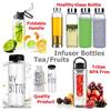 Glass Bottle/Glass Tea Infuser/Fresh Fruit Infuser/Drinking Water Bottle/BPA free/Tritan/Flip Lid/Healthy Drinking Water Bottle/High Borosilicate/Filter