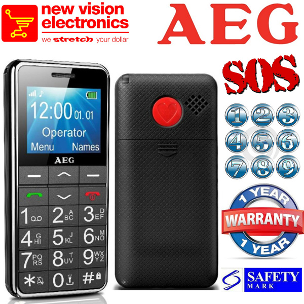 Buy Aeg Senior Phone Big Buttons Sos Button Amplified Sound Colour Display 5 Emergency
