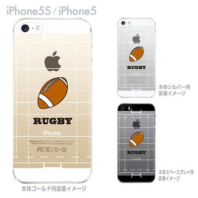 【iPhone5S】【iPhone5】【Clear Arts】【iPhone5ケース】【カバー】【スマホケース】【クリアケース】【クリアーアーツ】【ラグビー】 10-ip5-ca0063の画像