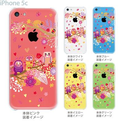 【iPhone5c】【iPhone5c ケース】【iPhone5c カバー】【ケース】【カバー】【スマホケース】【クリアケース】【クリアーアーツ】【フクロウ】 09-ip5c-th0010の画像
